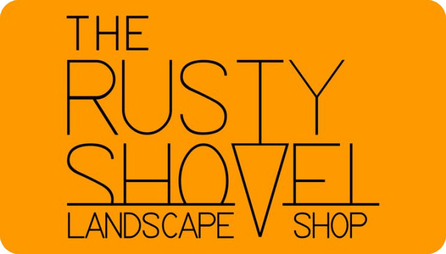 The Rusty Shovel Landscape Shop Logo
