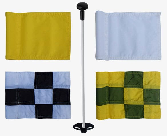 golf flags and pins for artificial grass putting greens