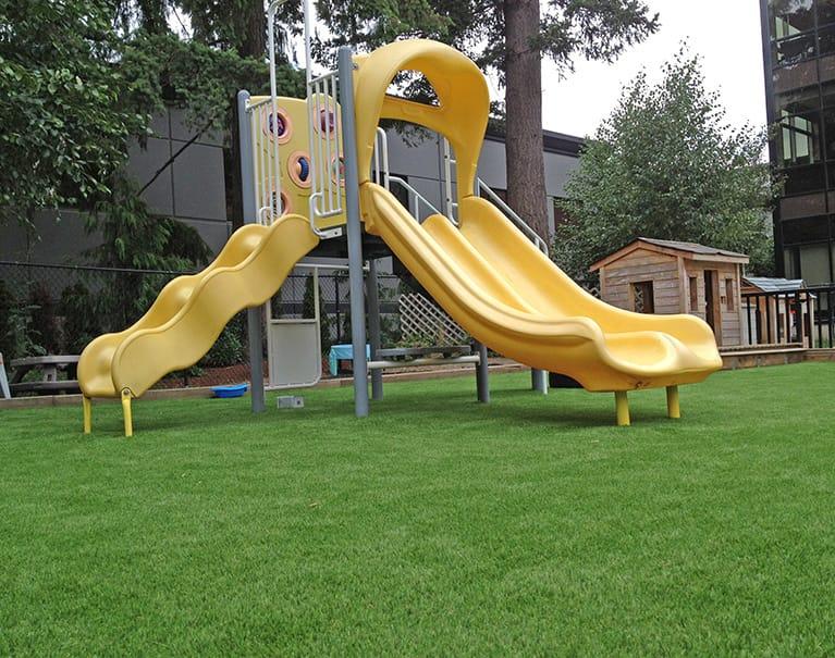 artificial grass playground system