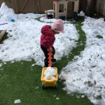 When the snow falls on your artificial grass, enjoy it!