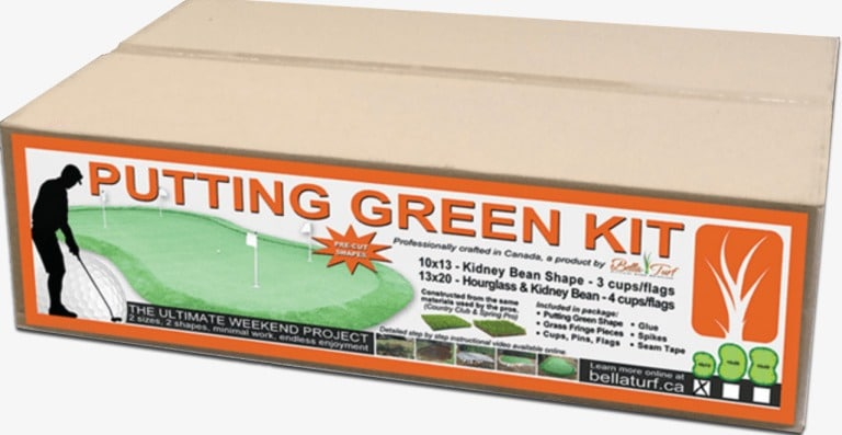bella turf putting green kit do it yourself in box