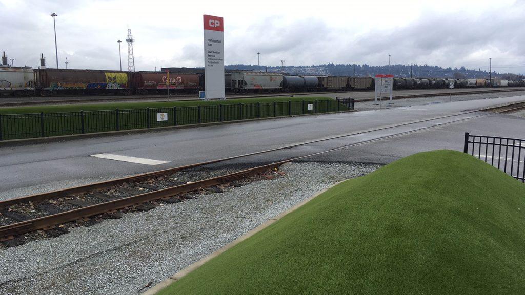 artificial grass at cp rail yard