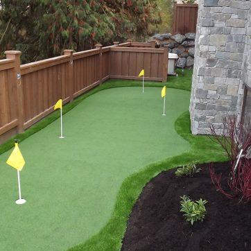 artificial grass sidewalk putting green