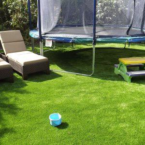 Artificial grass play area