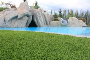 artificial grass by pool