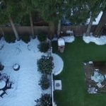 Can you spot the yard with Fake Grass?