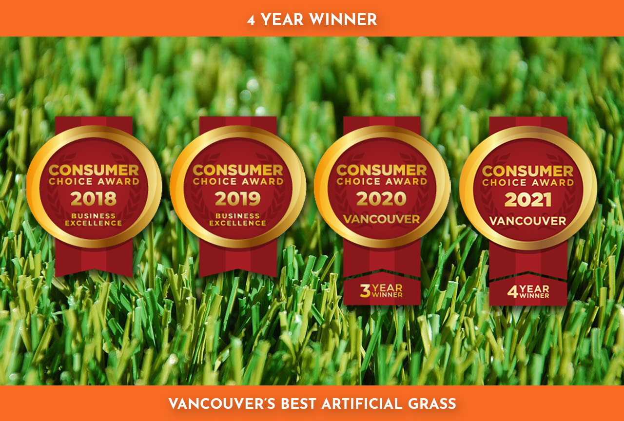 4 Year Award Winner for Vancouver's BEST Artificial Grass and Synthetic Turf