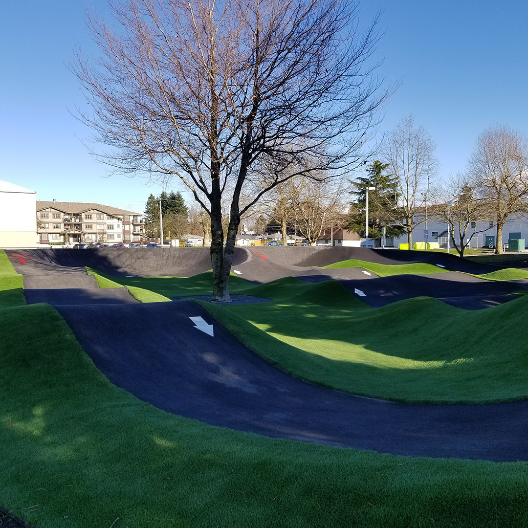 Artificial Grass Installed at Chilliwack's New Pump Track Facility